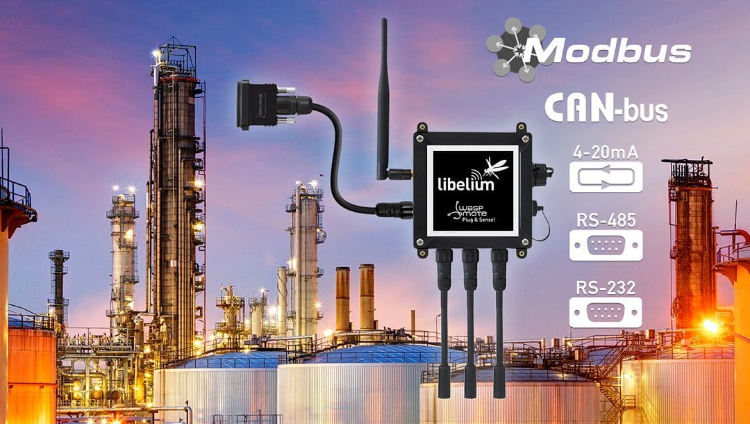 Libelium adds Industrial Protocols to its IoT Sensor Platform (RS-232, RS-485, Modbus, CAN Bus, 4-20mA)