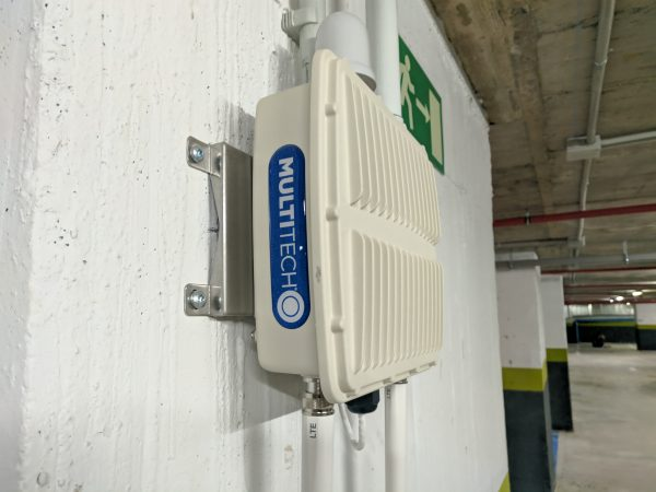 Multitech gateway for smart parking iot project