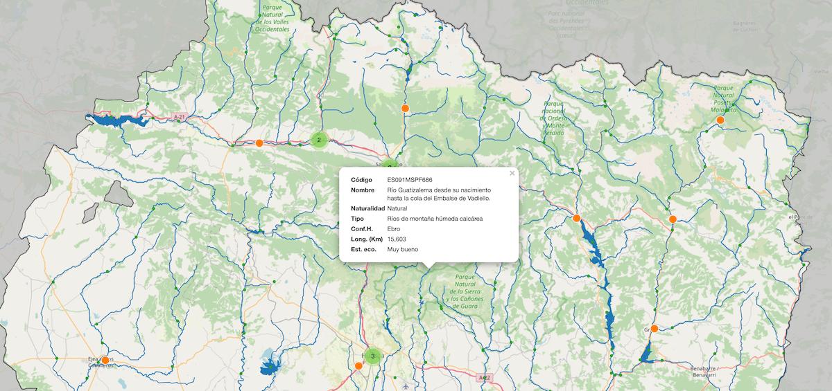 Monitoring rivers map