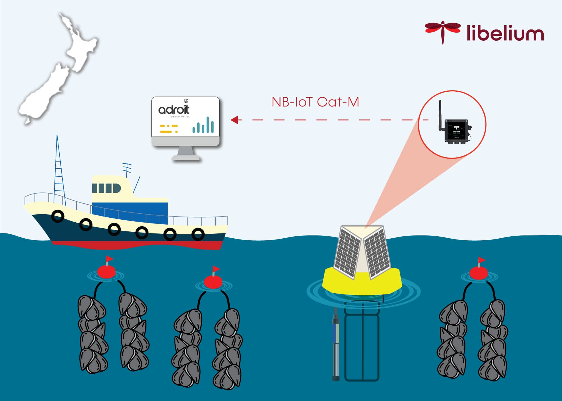 Smart Water for New Zealand mussels harvesting