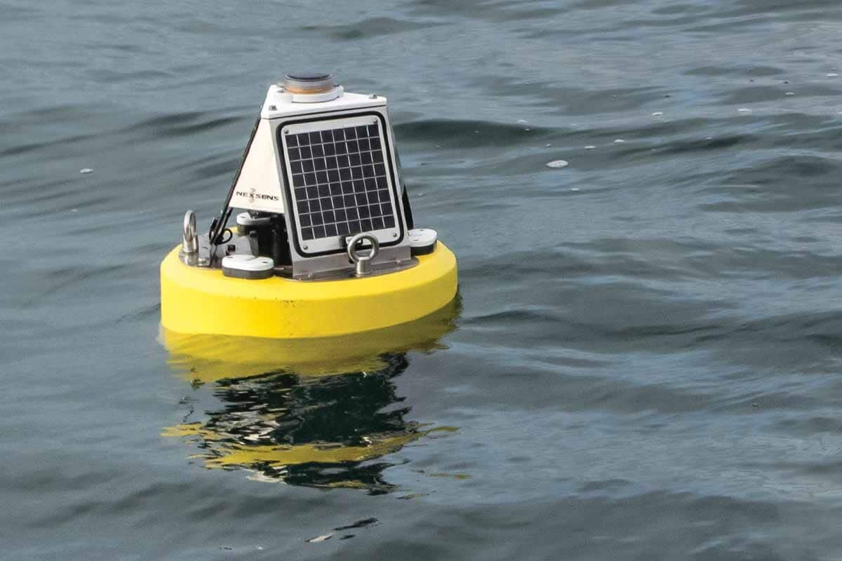 Data buoy for live project in NZ mussel harvesting